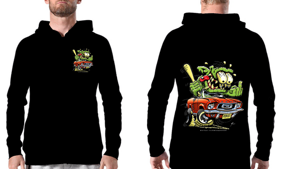 Hoodie Sweat com gorro Monster car