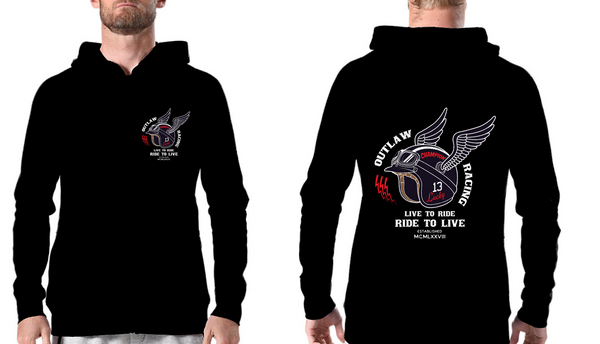 Hoodie Sweat com gorro Out Law Racing