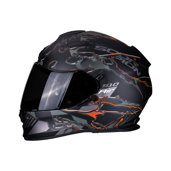 Capacete Scorpion Exo-510 Air Likid Matte Black Orange