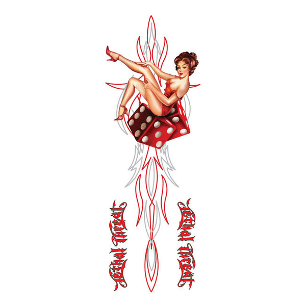 Autocolante Pin Up Dados