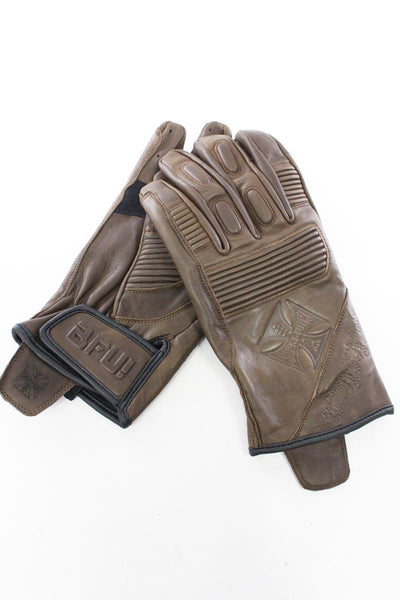 Luvas West Coast Choppers WCC BFU LEATHER RIDING GLOVES