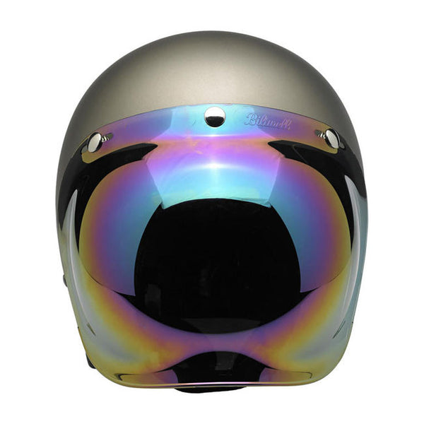 Viseira Bolha Biltwell Bubble Shield Rainbow Mirror