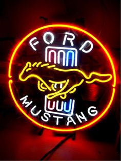 Neon Ford Mustang