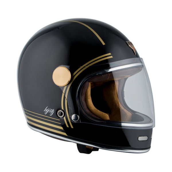 Capacete By City Roadster Gold Black
