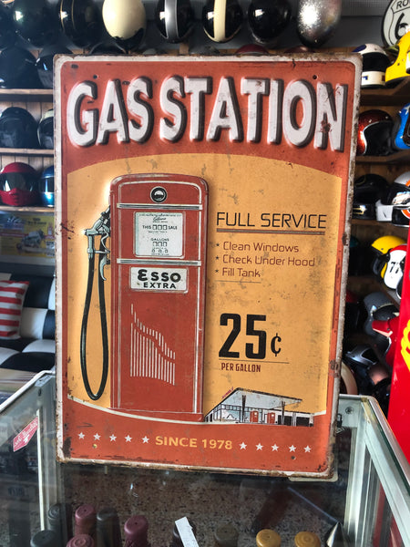 Chapa Metal Sign GAS STATION