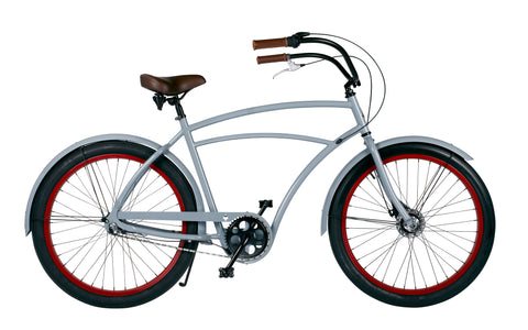Bicicleta Beach Cruiser Gents grey 3 mudanças