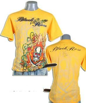 T-shirt yellow Skull