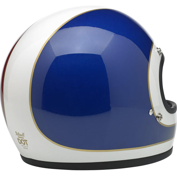 Capacete Biltwell Gringo Tracker Red White & Blue