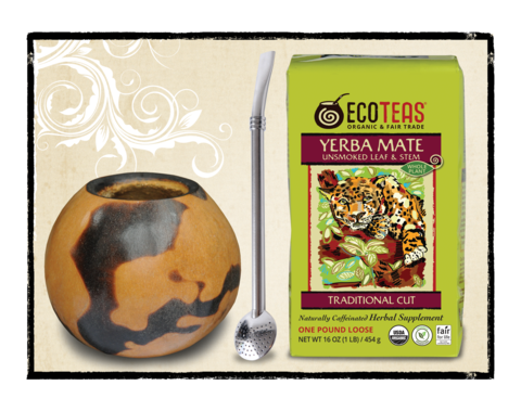 Yerba Mate Gift Set with Fire Gourd