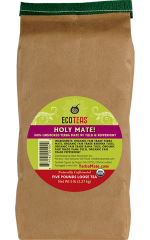 Organic Holy Mate! (w/ Tulsi & Peppermint) - 5 lb Loose - ws