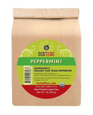 Organic Peppermint Tea - One Pound Loose