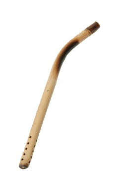 bamboo tea straw or natural bombilla