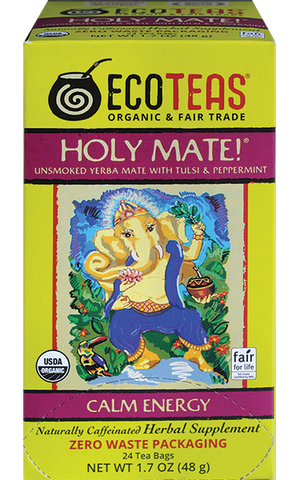 Organic Holy Mate! (w/ Tulsi & Peppermint) - 24 Tea Bags