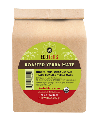 Organic Roasted Yerba Mate - 75 Tea Bags