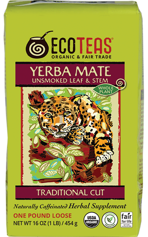 Yerba Mate - Leaf/Stem - 1 lb Master Case (8/6-1 lb)