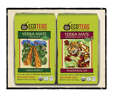 Yerba Mate Sampler - 1 lb Pure Leaf & 1 lb Leaf/Stem