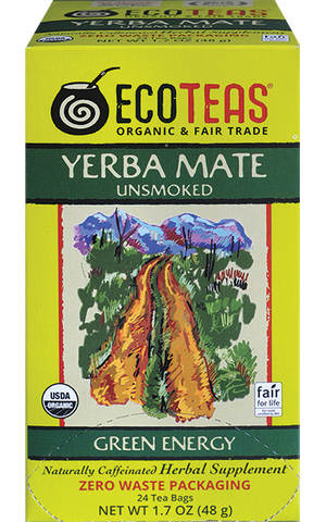 Organic Yerba Mate - 24 Tea Bags - UNWRAPPED