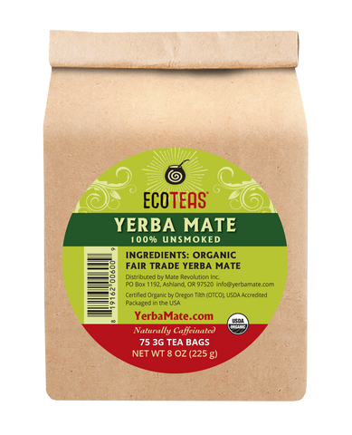 Yerba Mate - 75 Tea Bags Case (6/75ct) - ws