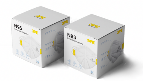 3PE N95 Particulate Respirator (1 BOX 25 pcs)