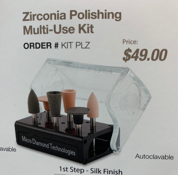 Zirconia Polishing Multi-Use Kit Order #KIT PLZ