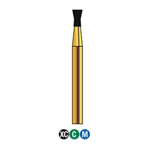 G/019-017  (806) 10-Pk , Multi use Gold Diamond Burs Inverted Cone Shaped