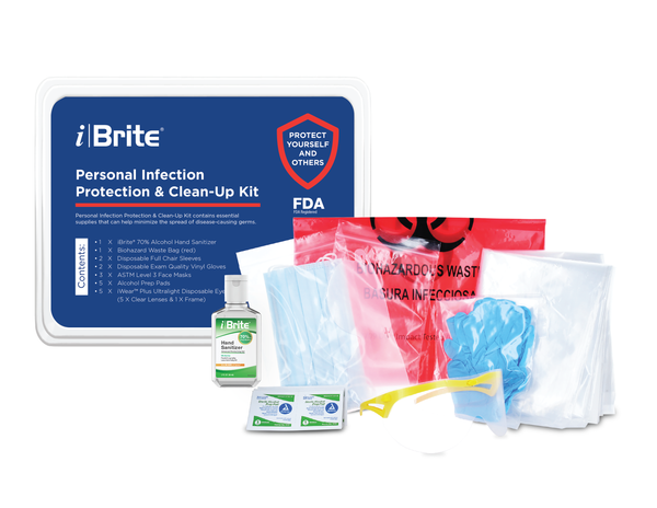 iBrite  IB-SK02 personal infection protection and clean up kit