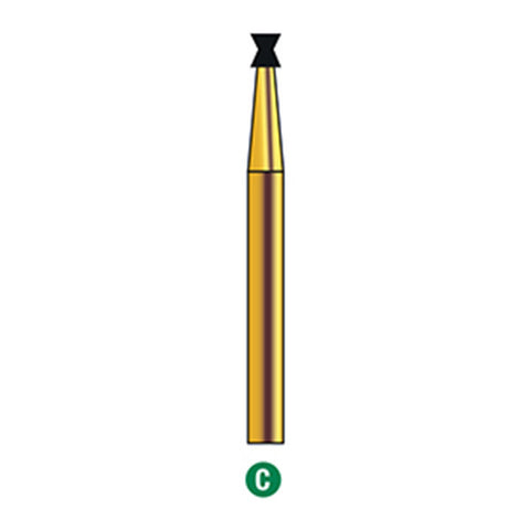 G/032-014 | Reusable Gold Diamond Burs Diablo Shaped