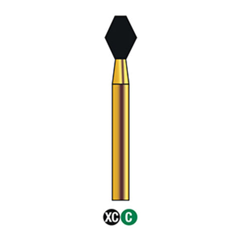 G/038-033 | (811s) Reusable Gold Diamond Burs Barrel Shaped