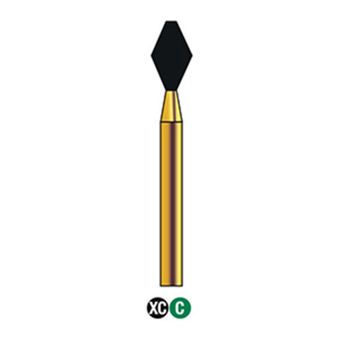 G/039-033 (811) Reusable Gold Diamond Bur Barrel Shaped