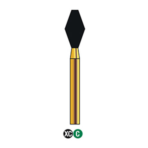 G/039-037 (811) Reusable Gold Diamond Burs Barrel Shaped
