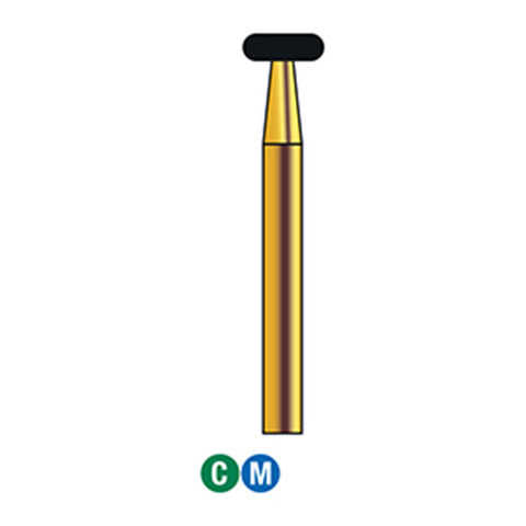 G/067-035S (909) Reusable Gold Diamond Burs Wheel Shaped