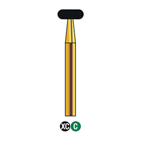 G/067-042S | Reusable Gold Diamond Burs Wheel Shaped