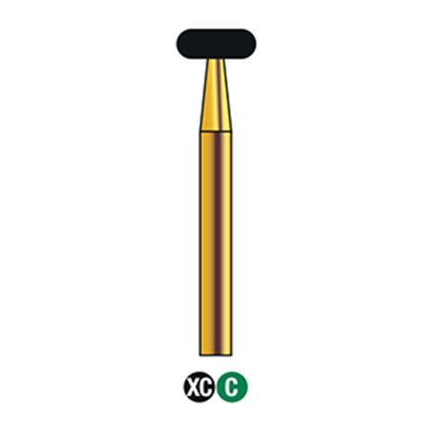 G/067-042S (909) Reusable Gold Diamond Burs Wheel Shaped