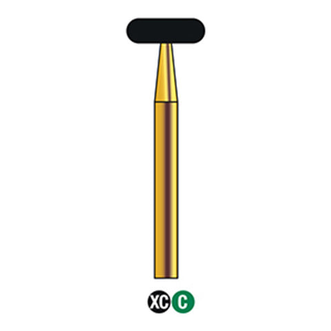 G/068-055 (909) Reusable Gold Diamond Burs Wheel Shaped