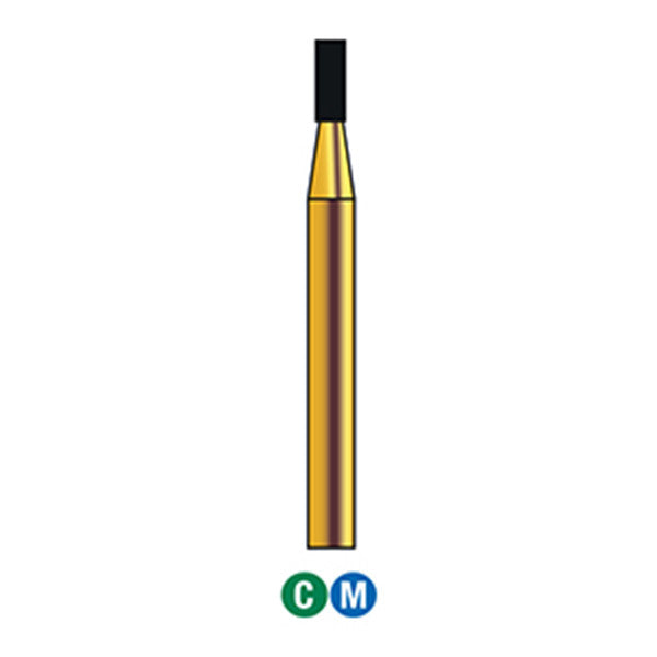 G/108-011 (835) Reusable Gold Diamond Burs Flat End Cylinder Shaped