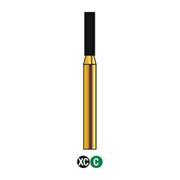 G/110-015S (836) Reusable Gold Diamond Burs Flat End Cylinder Shaped