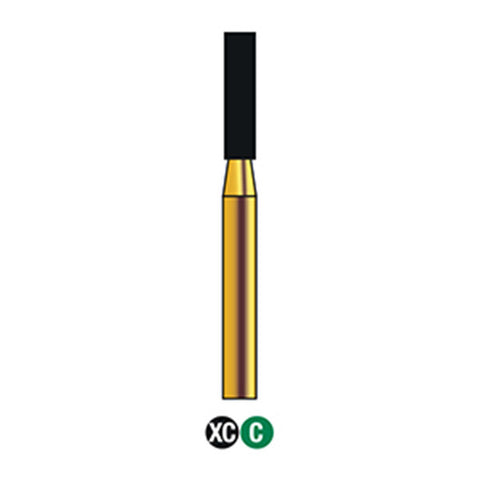 G/110-017S | Reusable Gold Diamond Burs Flat End Cylinder Shaped