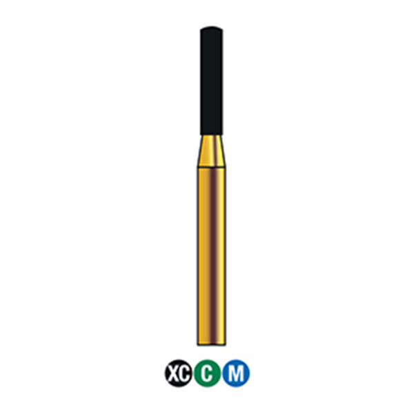 146-012S | 883 Reusable Gold Diamond Burs Round End Cylinder Shaped