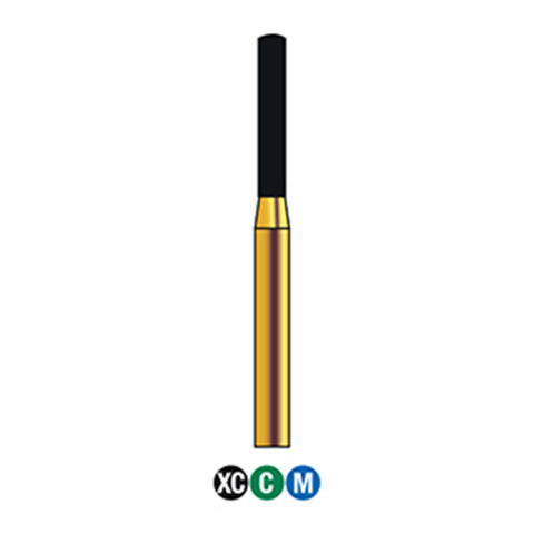 G/146-014S | Reusable Gold Diamond Burs Round End Cylinder Shaped