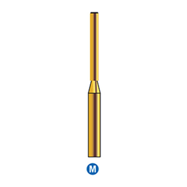 G/150-012S (839) 10-Pk , Multi use Gold Diamond Burs End Cutting Cylinder Shaped