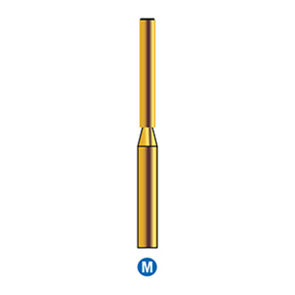 G/150-014S | Reusable Gold Diamond Burs End Cutting Cylinder Shaped