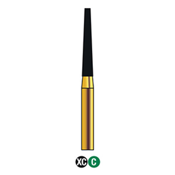G/173-016S (848)  10-Pk , Multi use Gold Diamond Burs (Flat end Taper Shaped)