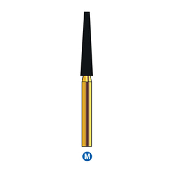 G/174-022 | Reusable Gold Diamond Burs (Flat end Taper Shaped)