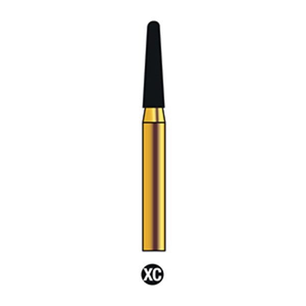 G/197-017S | Reusable Gold Diamond Burs (Round End Taper Shaped)