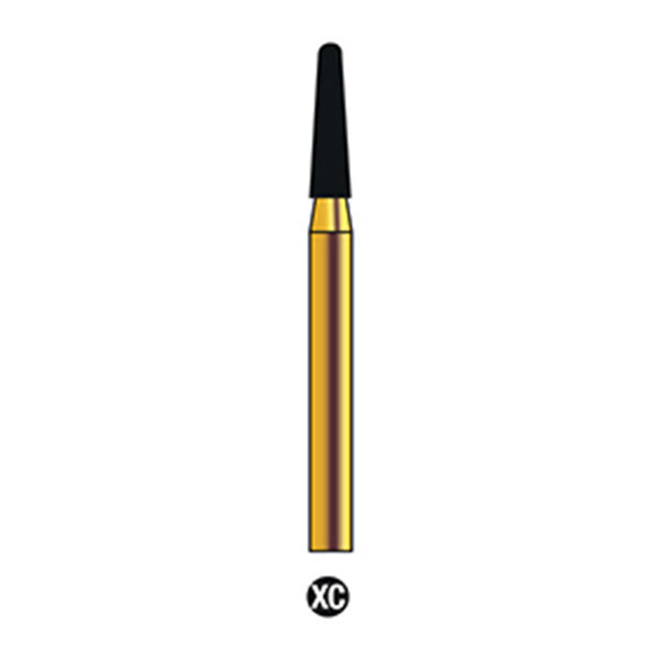 G/197-017 | (855) Reusable Gold Diamond Burs (Round End Taper Shaped)