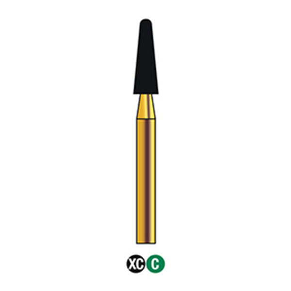 G/197-023 | (855)  10-Pk , Multi use Gold Diamond Burs (Round End Taper Shaped)