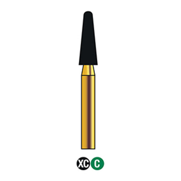 G/197-024S | (855)  10-Pk , Multi use Gold Diamond Burs (Round End Taper Shaped)