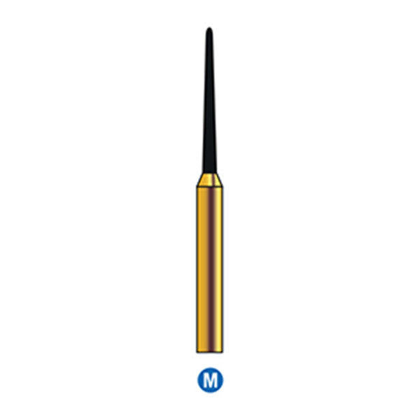 G/199-010S | Reusable Gold Diamond Burs (Rounded Taper Shaped)