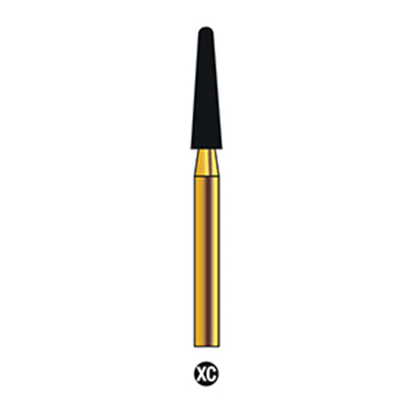 G/198-022 | (856) Reusable Gold Diamond Burs (Round End Taper Shaped)