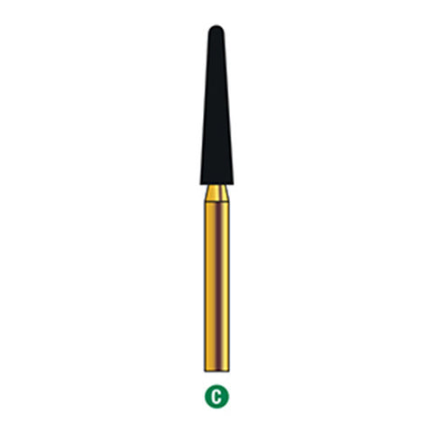 G/200-024 (850)  10-Pk , Multi use Gold Diamond Burs (Round End Taper Shaped)